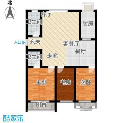 九龙明珠花园户型3室1厅2卫1厨