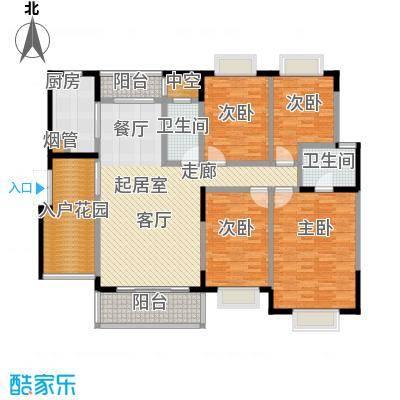 新世界曦岸145.00㎡E1户型4房2厅2卫户型4室2厅2卫