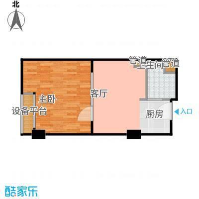 金都公寓式酒店43.00㎡B户型酒店式公寓户型