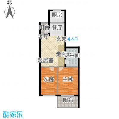 经区小城故事90.00㎡两室两厅两卫户型