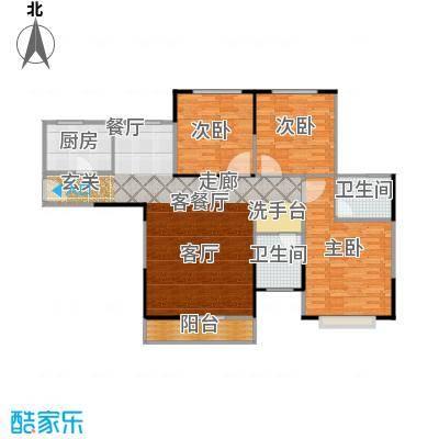 盛锦华庭户型3室1厅2卫1厨