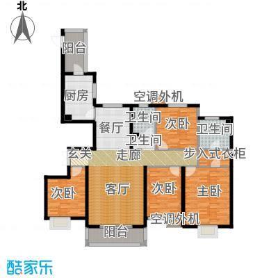河北国际商会广场170.00㎡四室两厅两卫户型4室2厅2卫