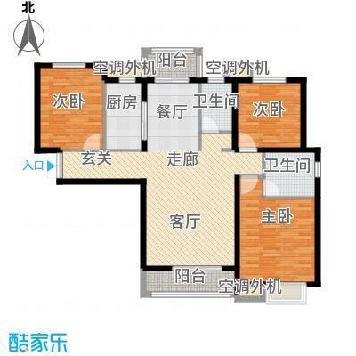 河北国际商会广场户型3室1厅2卫1厨