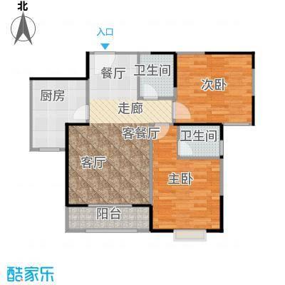 盛锦华庭户型2室1厅2卫1厨
