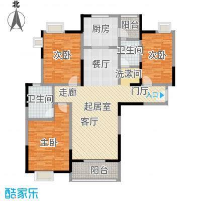 金地雄楚1号133.00㎡D-1户型3室2厅2卫