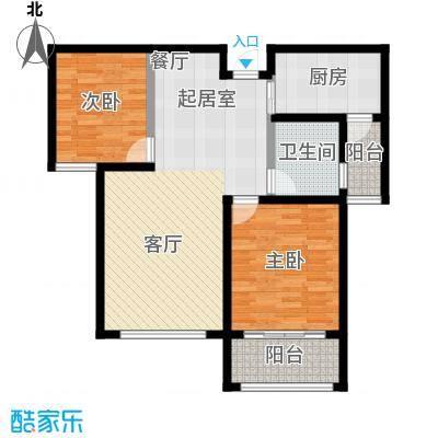 锦华广场未命名户型2室1卫1厨