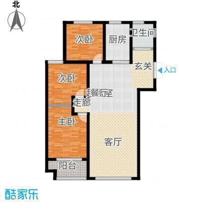 锦华广场未命名户型3室1卫1厨