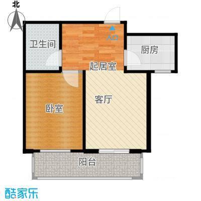凌透花园2期一室一厅一卫户型1室1厅1卫