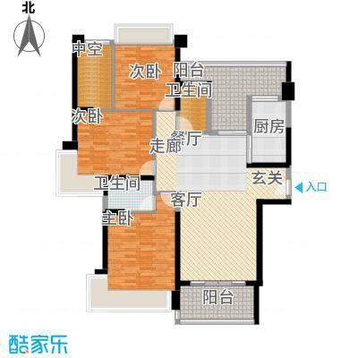 中澳滨河湾139.00㎡J101、03户型奇数层户型3室2厅2卫