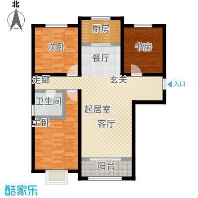 新华联广场-T户型3室1卫1厨