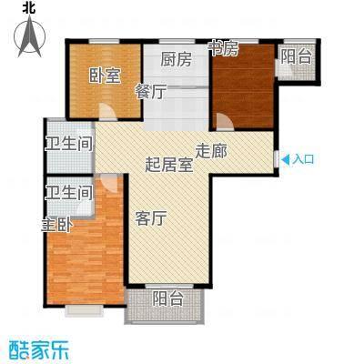 凌透花园2期三室二厅二卫户型3室2厅2卫