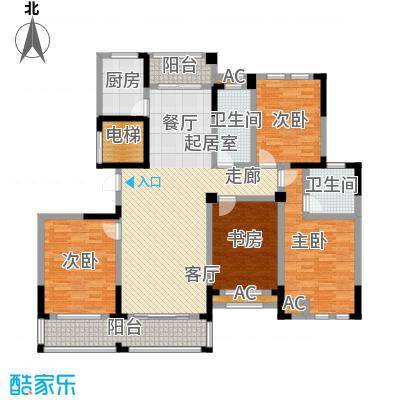 嘉城南都苑168.00㎡G-2-5户型4室2厅2卫