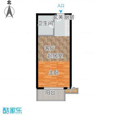 一等海户型图户型1室1厅1卫X