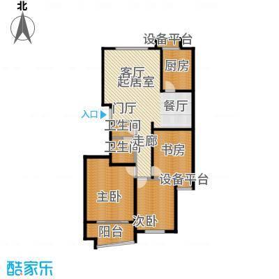 双馨苑户型3室2卫1厨