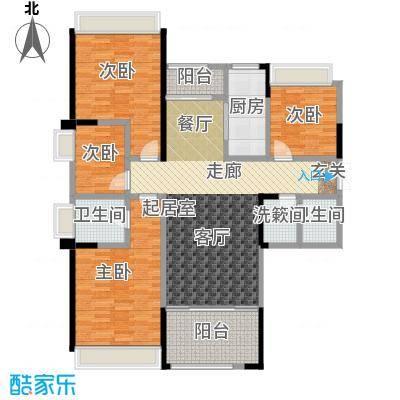 盛达国际新城户型4室2卫1厨