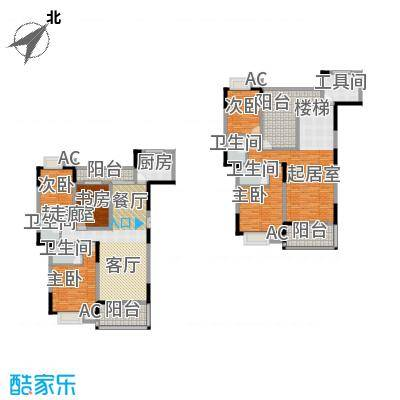 梓湖东城纯板式结构超豪华享受尽享品质人生户型5室4卫1厨