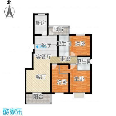 天境户型3室1厅2卫1厨