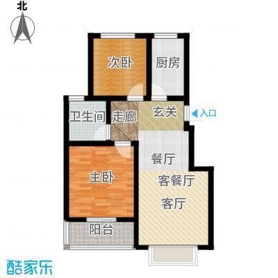 天境户型2室1厅1卫1厨