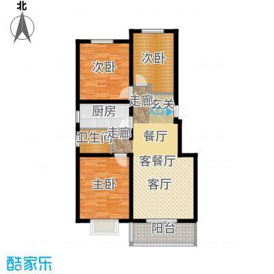 天境户型3室1厅1卫1厨