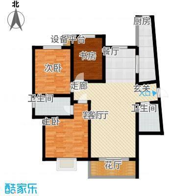阳光汾河湾142.51㎡阳光汾河湾A户型三室两厅两卫户型3室2厅2卫