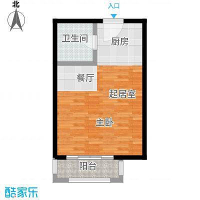 荣盛・盛锦花都42.12㎡公寓02-02户型1室1卫