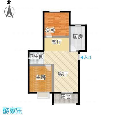 富东景苑67.68㎡户型2室2厅1卫