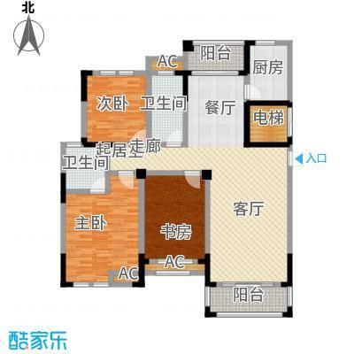 嘉城南都苑147.00㎡G-2-4户型3室2厅2卫