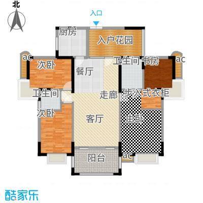 东方威尼斯A9栋B户型145.00㎡户型4室2厅2卫