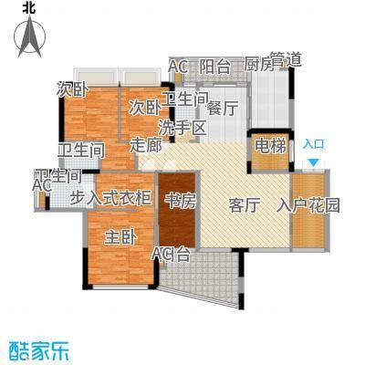 帝�东方172.38㎡35幢奇数层01户型4室2厅3卫