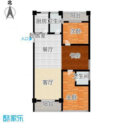 梅龙 枫香庭院129.00㎡B户型3室2厅2卫