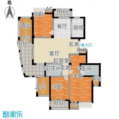 皇马公寓户型3室2卫1厨