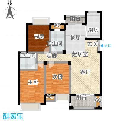 皇马公寓130.00㎡三室二厅二卫户型3室2厅2卫