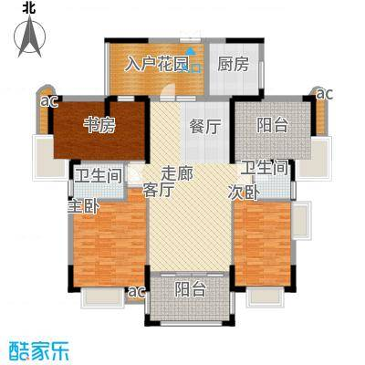 东方威尼斯3期A8栋2号房户型145.00㎡户型2室2厅1卫