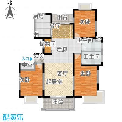 金港河滨华城137.10㎡三房二厅二卫,面积约138平方米户型