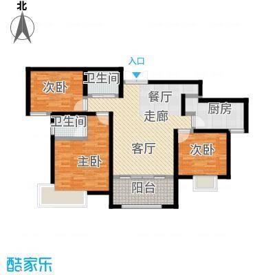 紫麟苑户型3室1厅2卫1厨