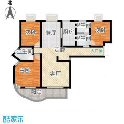 紫麟苑户型3室1厅3卫1厨