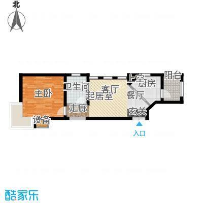 富安臻园53.00㎡G户型1室1厅1卫QQQQQ