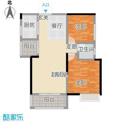 领御玺台小大空间CC户型2室1卫1厨