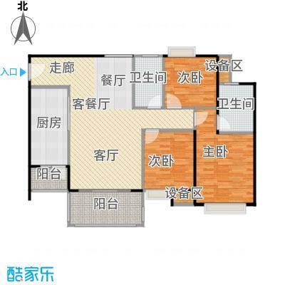联运怡景苑110.00㎡A5、B2户型110㎡3房2厅2卫户型3室2厅2卫