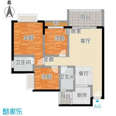 金河湾花园A户型3室
