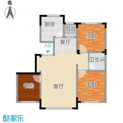 葫芦岛龙湾壹品106.92㎡户型3室2厅1卫