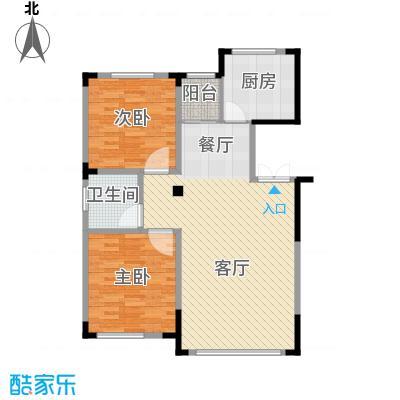 葫芦岛龙湾壹品91.57㎡户型2室2厅1卫