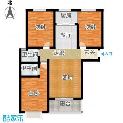 容盛星河湾115.58㎡B户型3室2厅2卫1厨户型3室2厅2卫