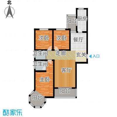 容盛星河湾136.00㎡C户型3室2厅2卫1厨户型3室2厅2卫