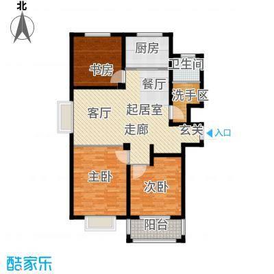中房青年城114.50㎡6#E户型3室2厅