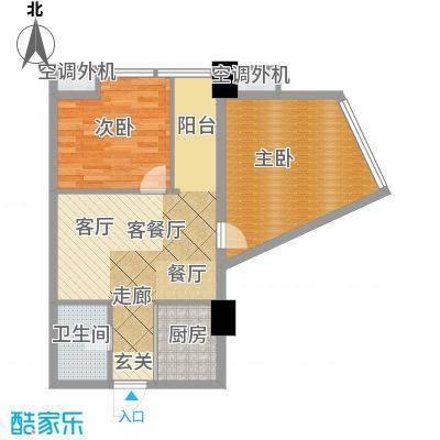 金水湾城市广场68.73㎡户型10室