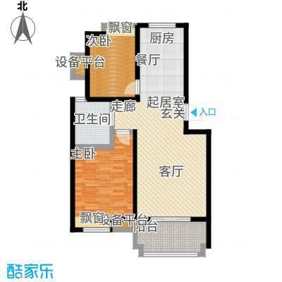 和风丽园二室二厅一卫户型
