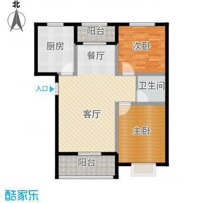 富东景苑91.00㎡户型2室2厅1卫