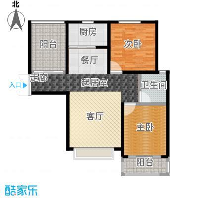 城林一号院98.70㎡C户型2室2厅1卫