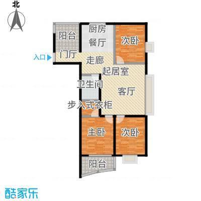 金威怡园133.00㎡A-3 户型3室2厅1卫